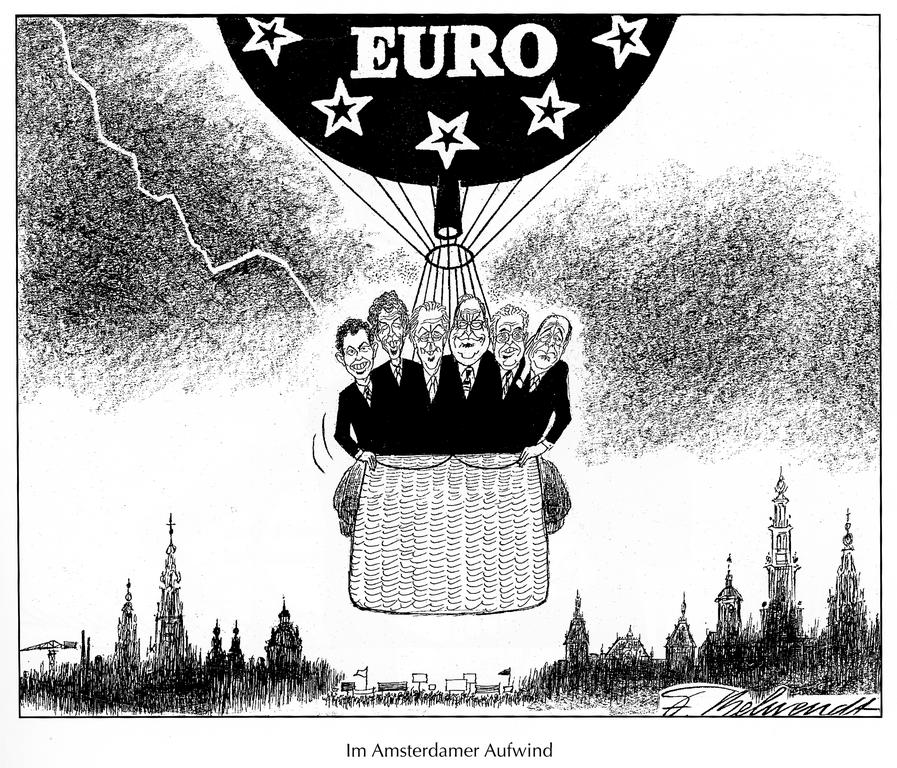 Cartoon by Behrendt on the Treaty of Amsterdam (1997)