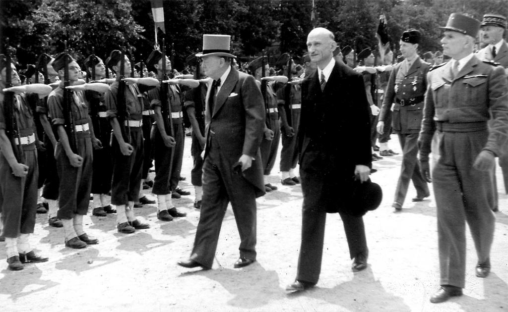 Winston Churchill visits Metz (14 July 1946)