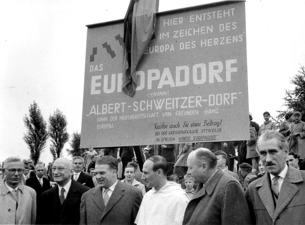 Launch of works for the building of a European village in Spiesen (1952)