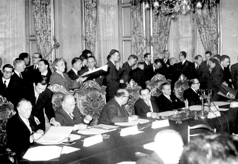 Signing of the Protocol Modifying and Completing the Brussels Treaty (Paris, 23 October 1954)