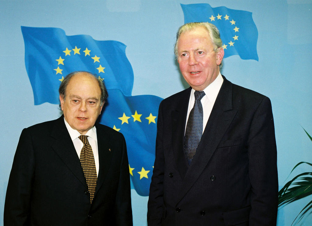 Jordi Pujol i Soley and Jacques Santer (Brussels, 11 March 1999)
