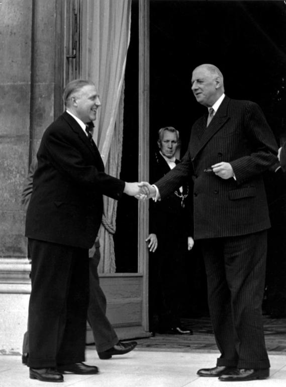Pierre Werner and General de Gaulle (Paris, 17 September 1960)