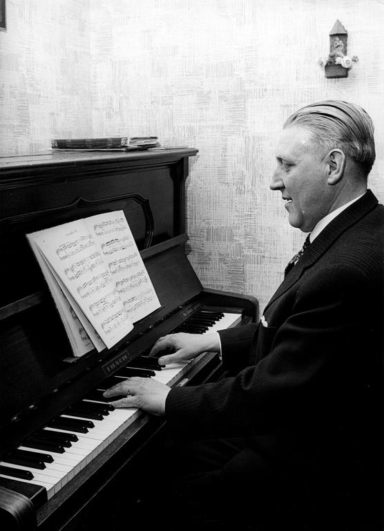 Pierre Werner at the piano