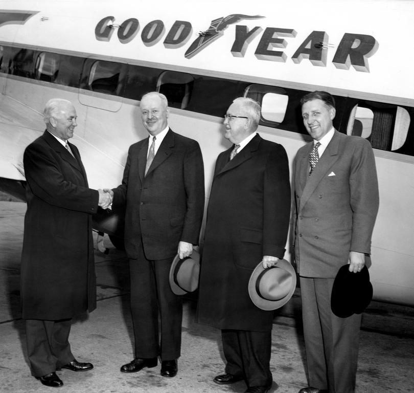 Visit by Pierre Dupong and Pierre Werner to the headquarters of Goodyear (Akron, September 1953)