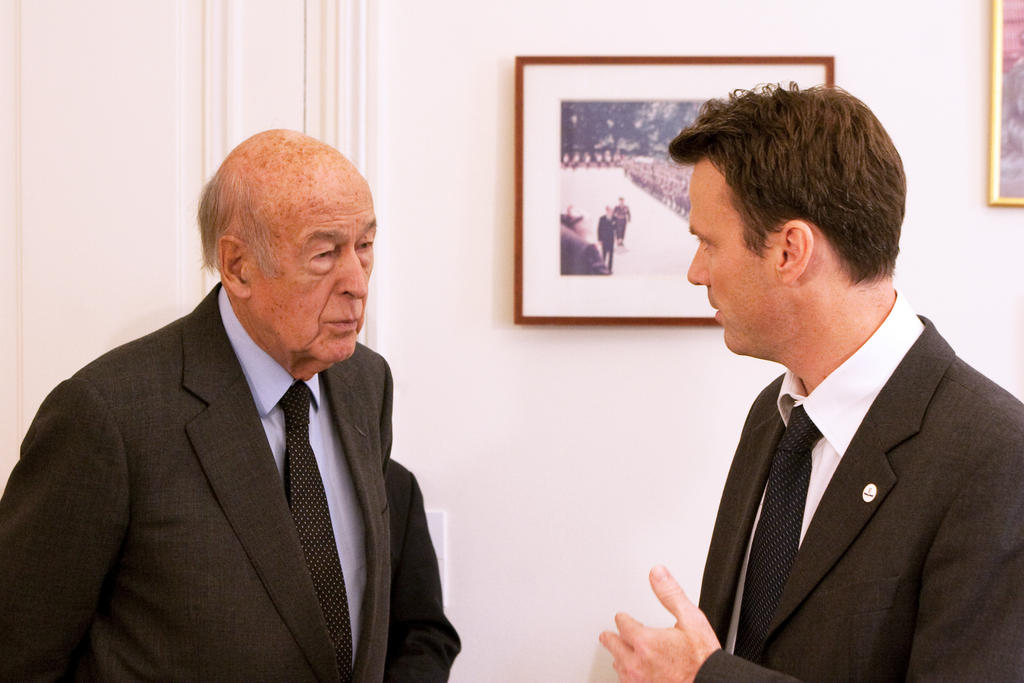 Valéry Giscard d'Estaing and Hervé Bribosia