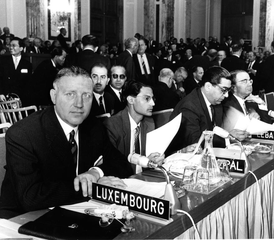 Pierre Werner at the Annual Meeting of the IMF Governors (Vienna, 1961)