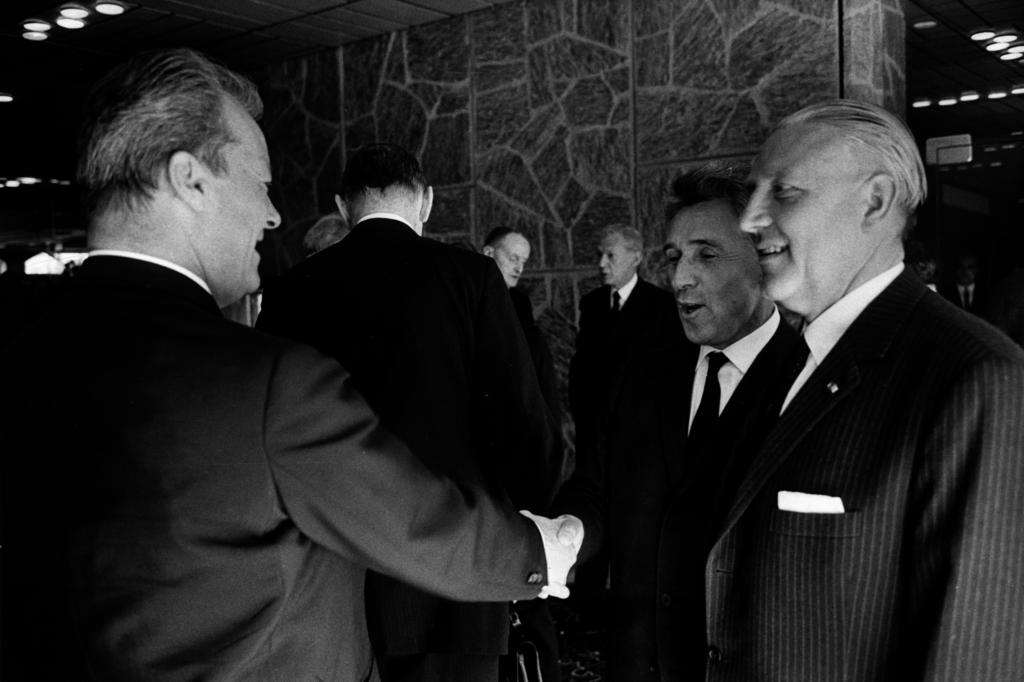 Pierre Werner, Willy Brandt and Pierre Grégoire at the NATO Ministerial Meeting (Luxembourg, 13 June 1967)