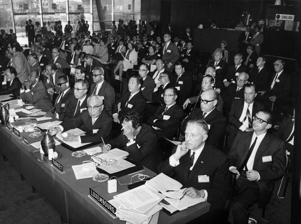 Pierre Werner at the Annual Meeting of the IMF Governors (Rio de Janeiro, 25 September 1967)