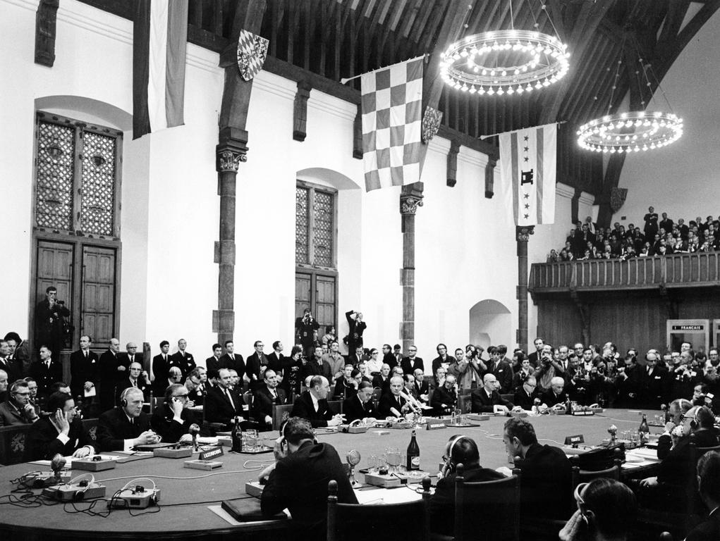 Conference room at the Hague Summit (1 and 2 December 1969)