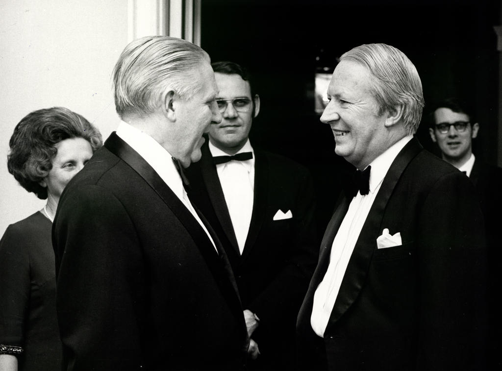 Pierre Werner und Edward Heath (London, 1972)