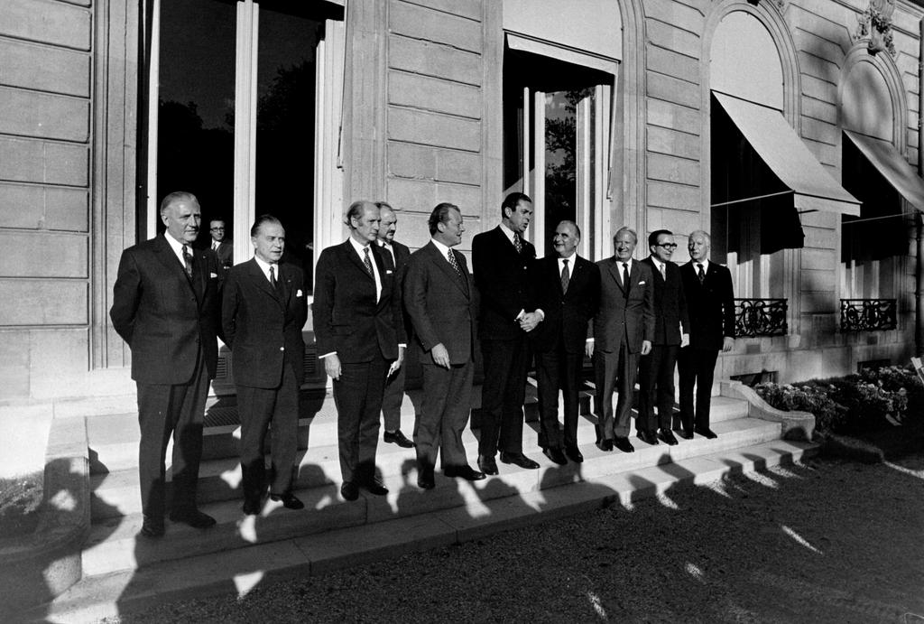 Group photo of the Paris Summit (19–21 October 1972)