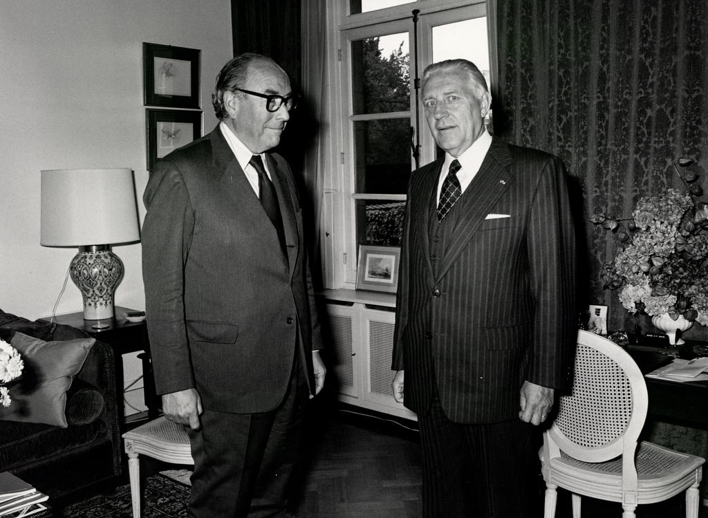 Pierre Werner and Roy Jenkins (Luxembourg, 10 October 1979)