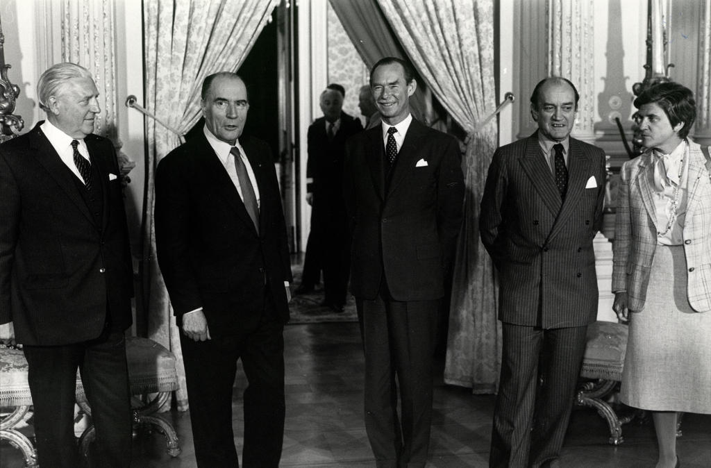 Grand Duke Jean and Pierre Werner with François Mitterrand (Luxembourg, 29 and 30 June 1981)