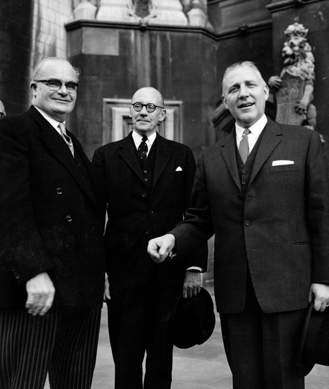 Meeting between Sir Herbert Butcher, G. W. Aldington and Pierre Werner (London, November 1963)