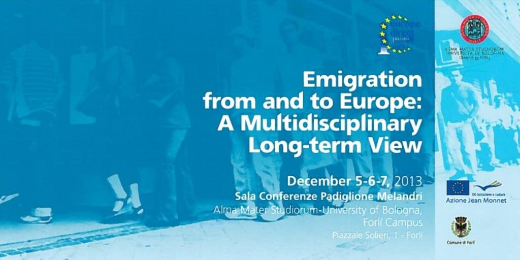 "Affiche de la conférence internationale ""Emigration to and from Europe: a multidisciplinary long-term view"""