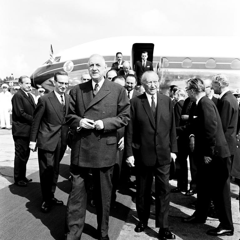 The first Franco-German consultations in Bonn: Charles de Gaulle-Konrad Adenauer (4 and 5 July 1963)