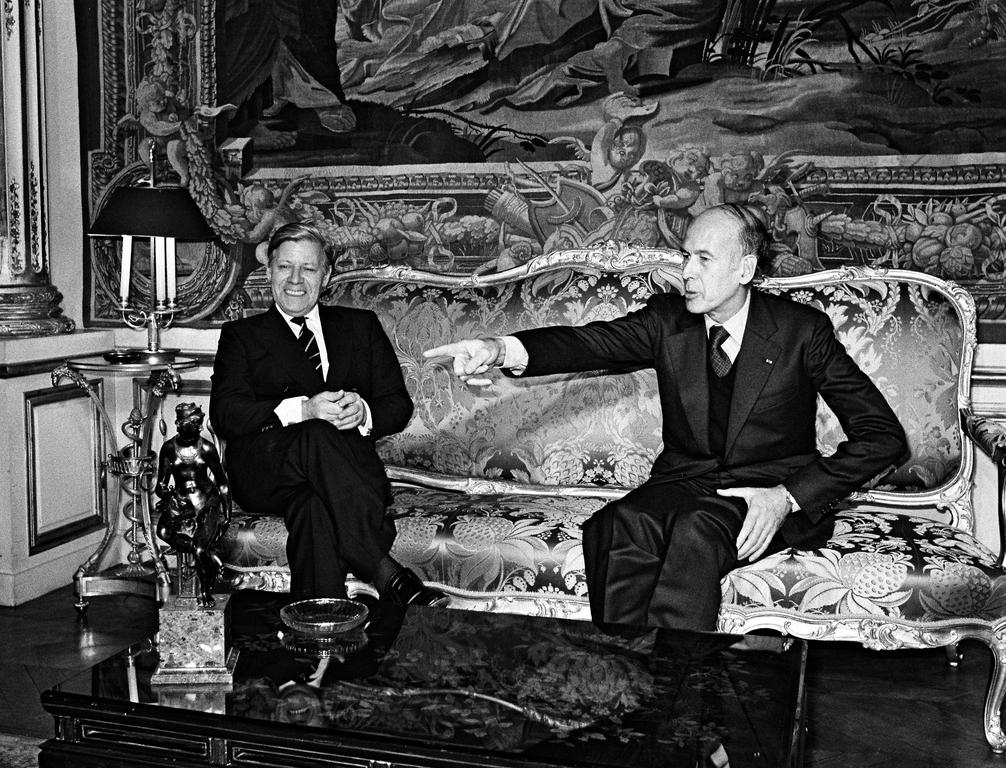 Thirty-third Franco-German summit: Helmut Schmidt and Valéry Giscard d'Estaing (Paris, 22 February 1979)