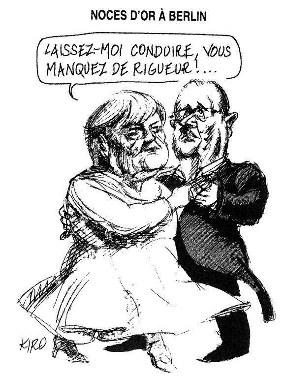 Karikatur Von Kiro Zum Deutsch Französischen Duo In Der