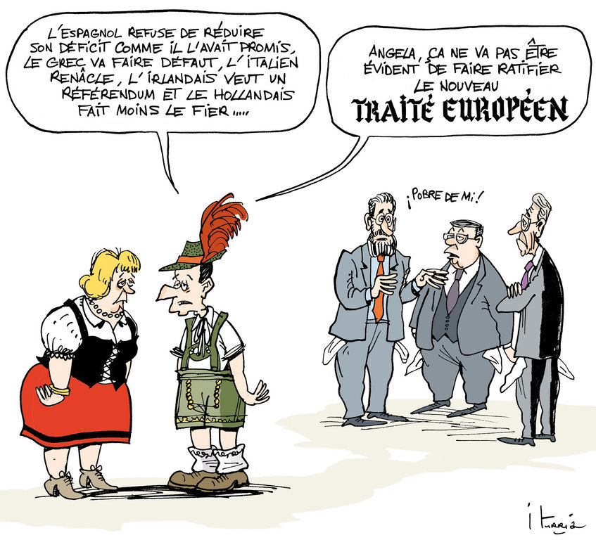 Cartoon by Iturria on the ratification of the European budget pact (10 March 2012)