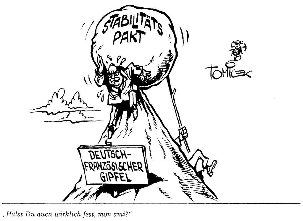 Cartoon by Tomicek on the stability pact (14 June 1997)