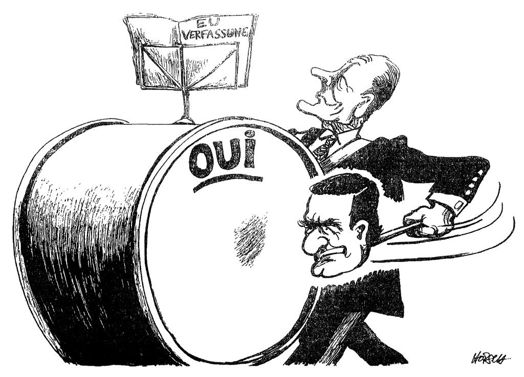 Cartoon by Horsch on the campaign in favour of the European Constitutional Treaty (27 April 2005)