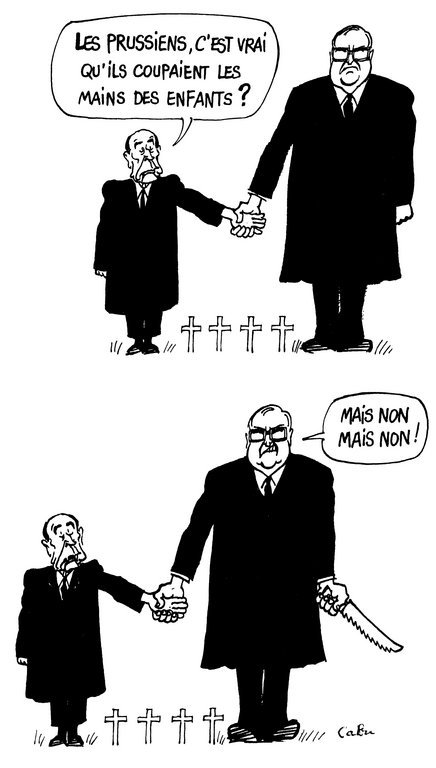 Cartoon by Cabu on Franco-German friendship (January 1985)