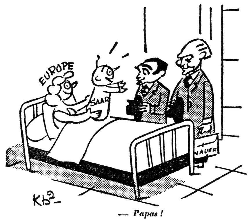 Karikatur Von Kb2 Zur Zukunft Des Saarlandes 27 Oktober