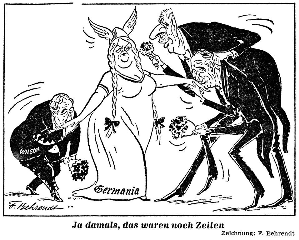 Cartoon by Behrendt on Germany's role on the international stage (4 June 1966)