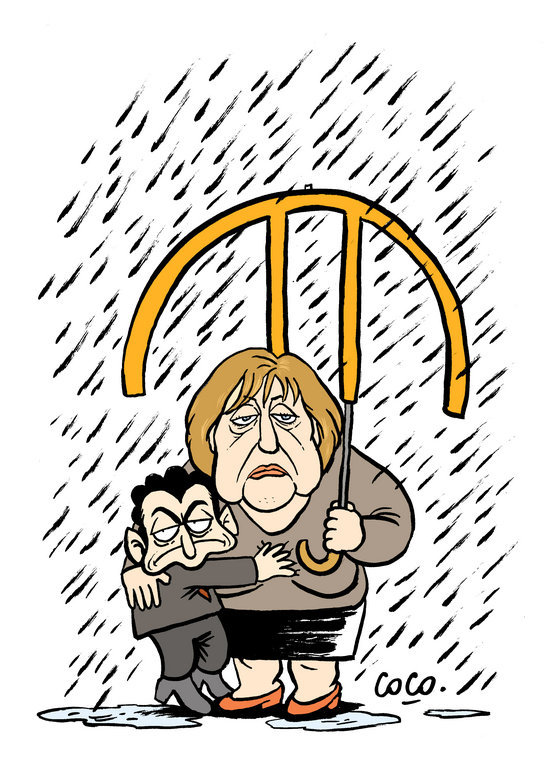 Cartoon by Coco on the Franco-German duo and the euro zone crisis (12 December 2011)