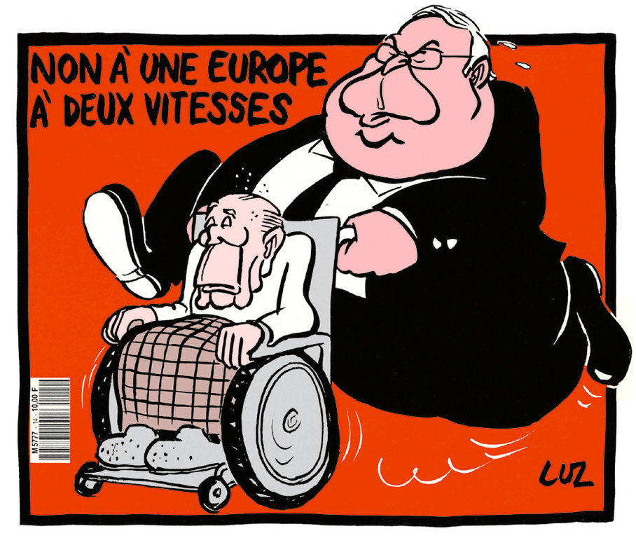 Cartoon by Luz on fears of a two-speed Europe (30 September 1992)