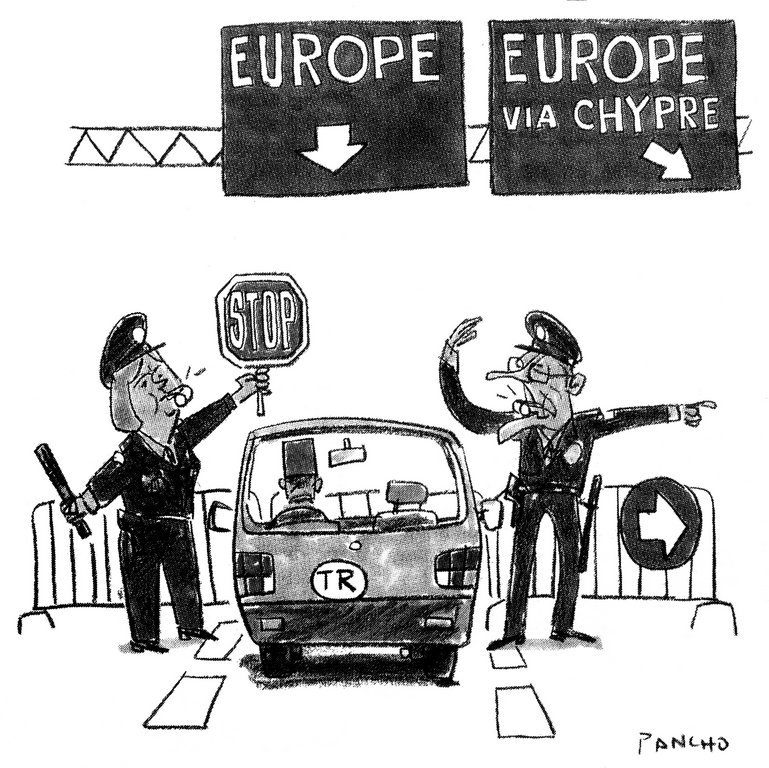 Cartoon by Pancho on the issue of Turkey's accession to the EU (6 December 2005)