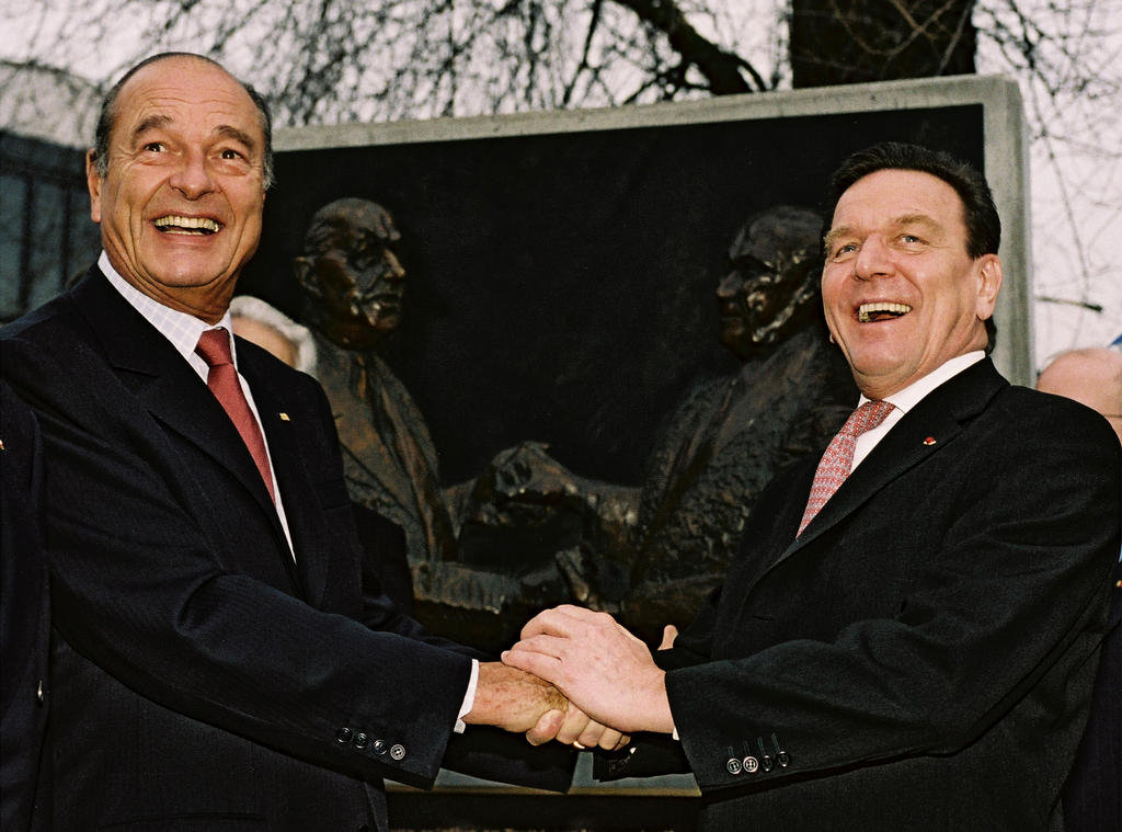 Jacques Chirac and Gerhard Schröder: 40th anniversary of the signing of the Élysée Treaty (23 January 2003)