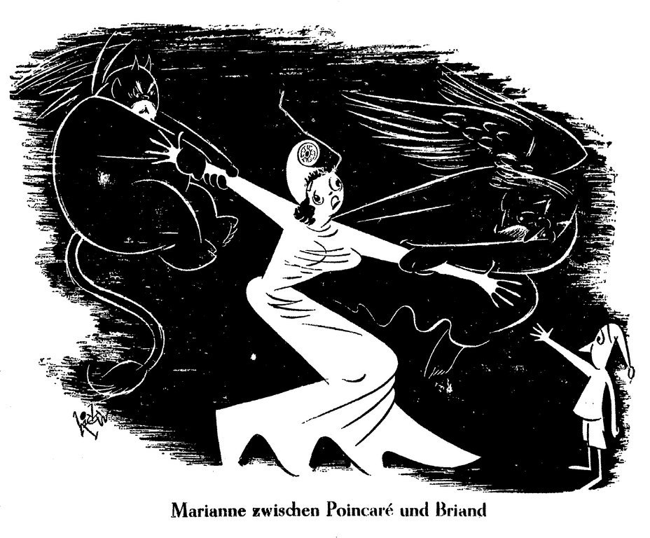 Cartoon by Hicks on the future of Franco-German relations (2 November 1950)