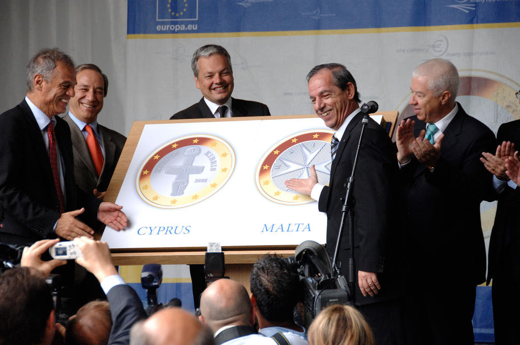 Festivities for the entry of Cyprus and Malta into the euro zone (Brussels, 10 July 2007)