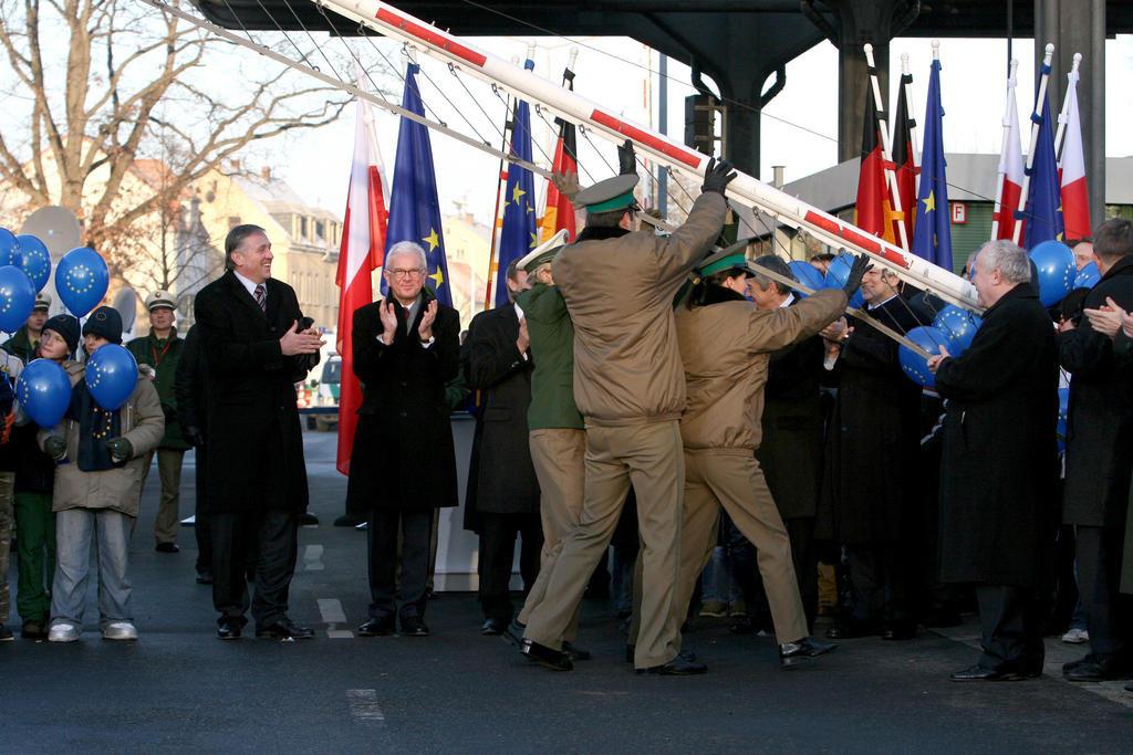 Celebrations to mark the enlargement of the Schengen Area (Zittau, 20 December 2007)