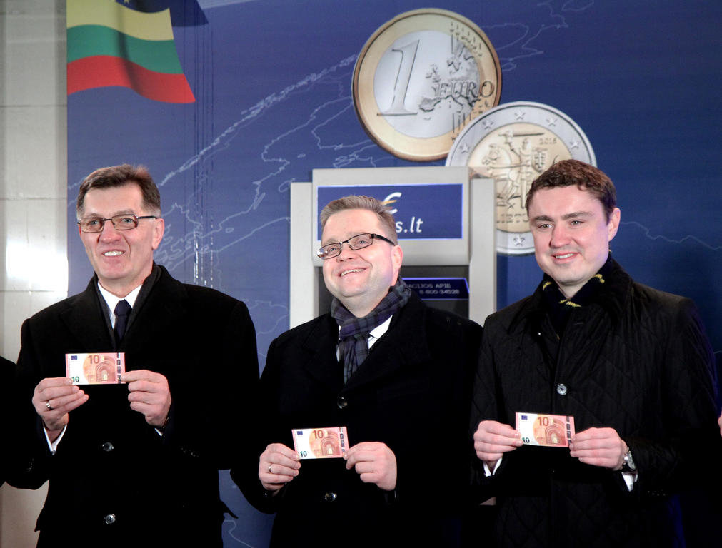 Festivities to celebrate the enlargement of the euro zone to include Lithuania (Vilnius, 1 January 2015)