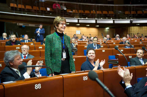 Election of Anne Brasseur as President of the Parliamentary Assembly of the Council of Europe (Strasbourg, 27 January 2014)