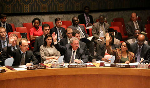 Jean Asselborn at the United Nations Security Council (New York, 21 July 2014)