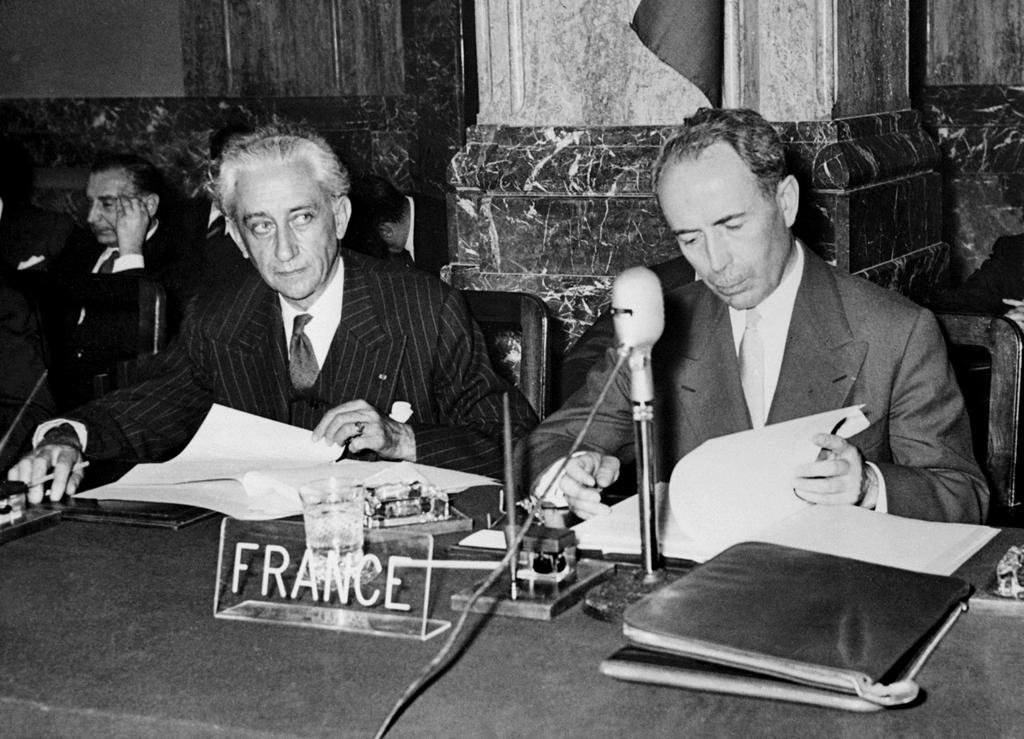 The French delegation at the Messina Conference (Messina, 1 June 1955)