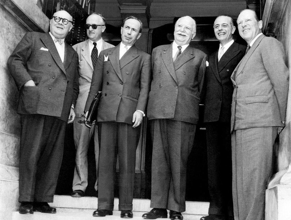 The Six at the Messina Conference (Messina, 1 June 1955)