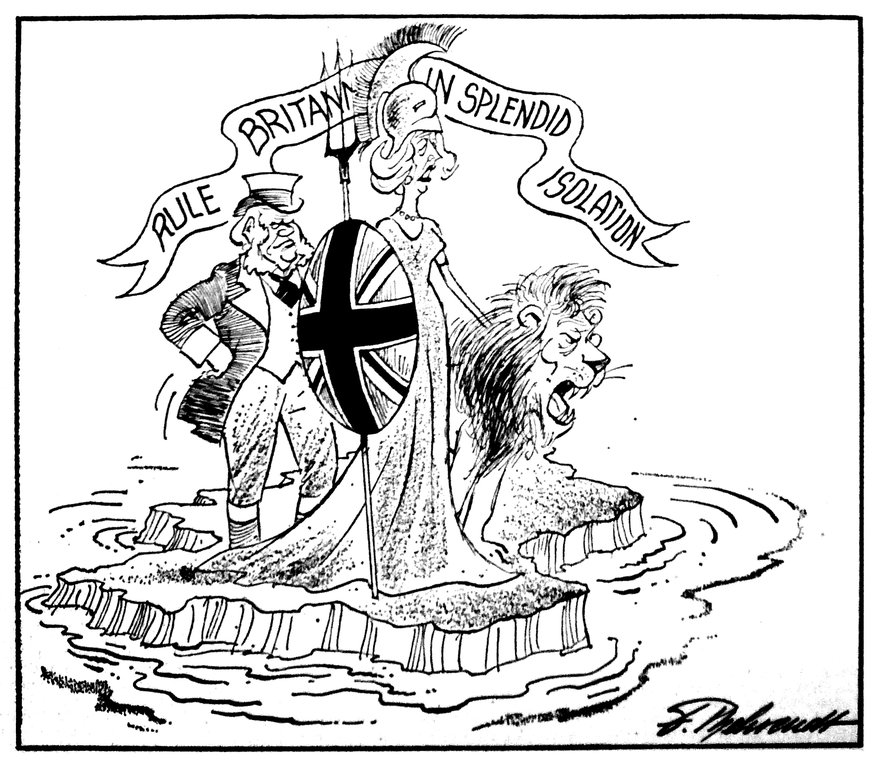 Cartoon by Behrendt on the intransigent attitude of British Prime Minister Margaret Thatcher to the EC (30 March 1984)