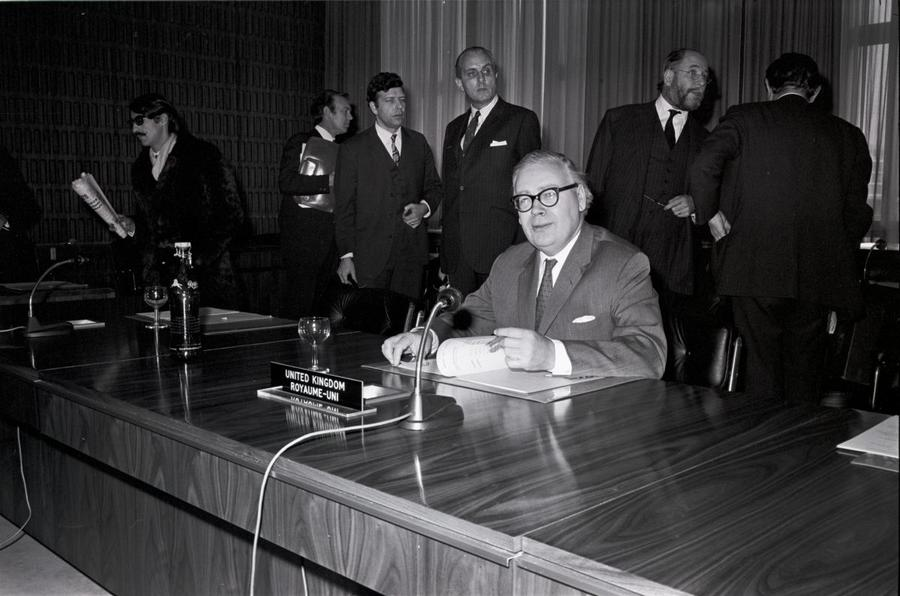 Geoffrey Rippon at the 410th ministerial meeting of the WEU Council (Luxembourg, 11 January 1971)