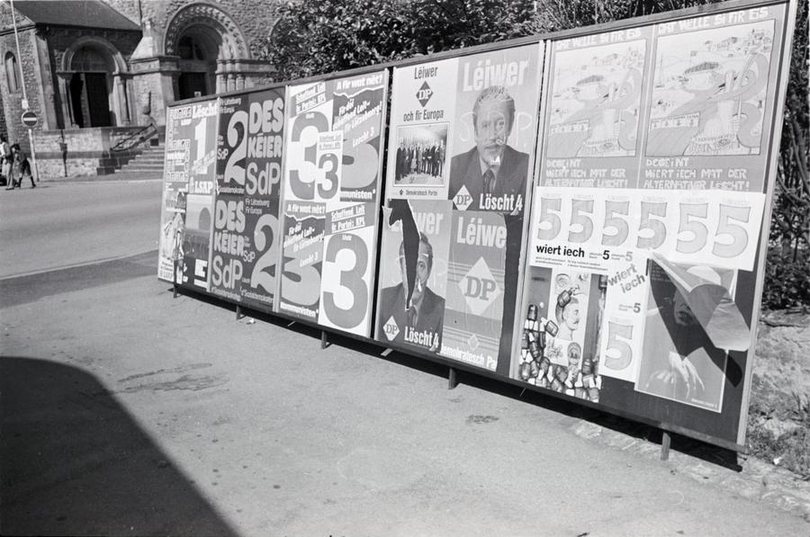 Posters for the European and parliamentary elections in Luxembourg (10 June 1979)