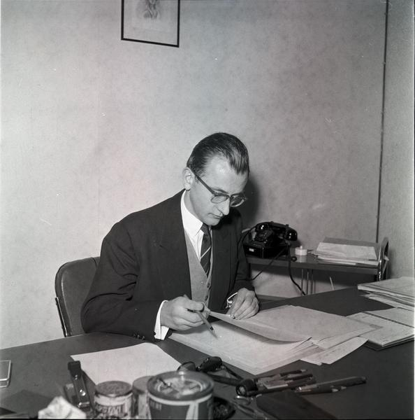 Georges Berthoin, Head of the Private Office of Jean Monnet, President of the ECSC High Authority (Luxembourg, 17 April 1953)