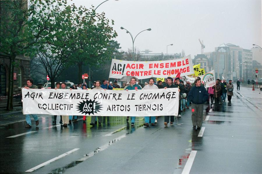 Demonstration by trade unions and associations against unemployment at the Luxembourg European Council (20 November 1997)